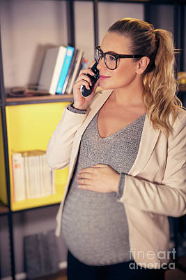 Photograph - Pregnant Woman At Work by Anna Om