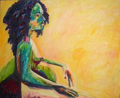 Painting - Pregnant Woman In Yellow by Esther Newman-Cohen