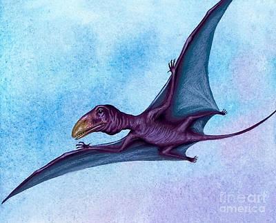 Flying Dinosaur Painting - Prehistoric Bird by David Nockels