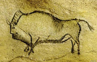 Digital Art - Prehistoric Bison 2 - La Covaciella by Weston Westmoreland