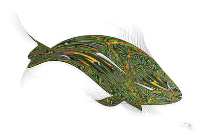 Digital Art - Prehistoric Fish  by Warren Lynn