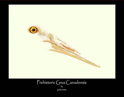 prehistoric Grus Art Print