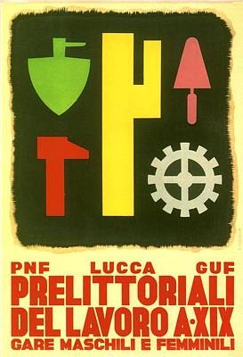 Mixed Media - Prelittoriali Del Lavoro - Lucca - Event Poster - Retro Travel Poster - Vintage Poster by Studio Grafiikka