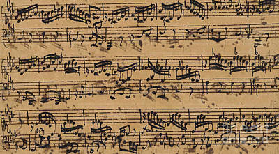 Music Drawing - Prelude, Fugue And Allegro In E Flat by Johann Sebastian Bach