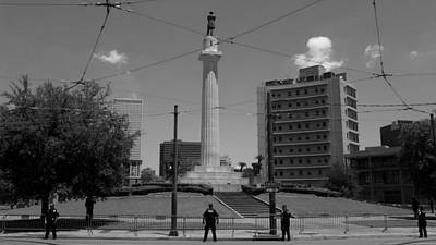 Prelude Of A Demonstration At The General Robert E. Lee Mounment In New Orleans, Louisiana Art Print