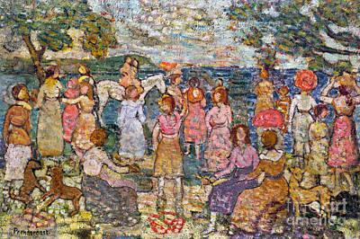 Prendergast: Beach, 1916 Art Print by Granger