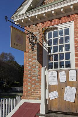 Prentis Store Colonial Williamsburg Virginia Print by Teresa Mucha
