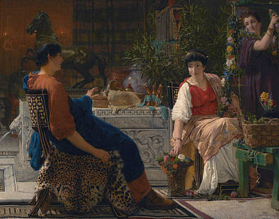 Ancient Rome Painting - Preparations For The Festivities by Lawrence Alma-Tadema