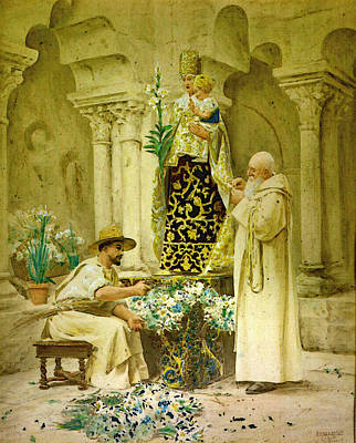 Procession Digital Art - Preparations For The Procession by Jehan Georges Vibert