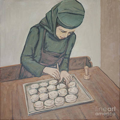 Art Print featuring the painting Preparing Communion Bread by Olimpia - Hinamatsuri Barbu
