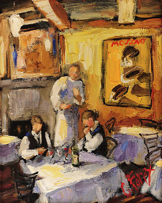 Painting - Preparing For Dinner Time by Carole Foret