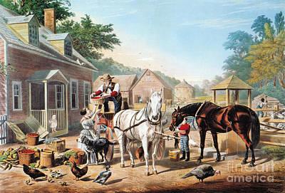 Painting - Preparing For Market (c&i) by Granger
