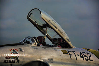 Photograph - Preparing For Takeoff - Lockeed Canadair Ct-133 by John Black