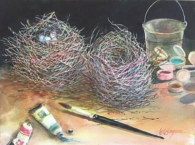 Painting - Preparing My Subject by Maryann Boysen