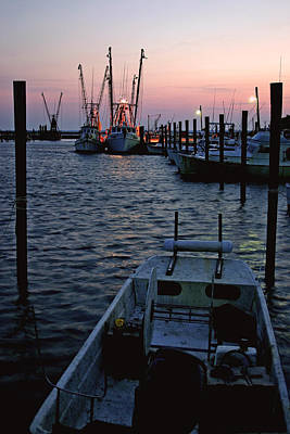 Preparing The Boats Chincoteague Island Virginia Art Print by Brian M Lumley