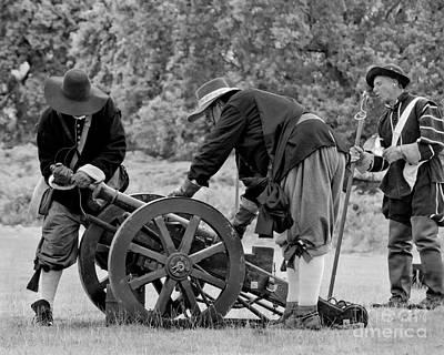 Skirmish Digital Art - Preparing The Cannon by Linsey Williams