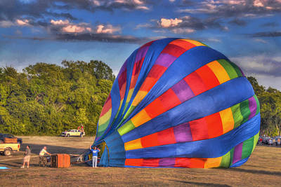 Photograph - Plano Balloon Festival - Preparing To Launch by Dyle Warren