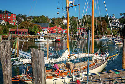 Photograph - Preparing To Sail Rockport Maine Img_5993 by Greg Kluempers