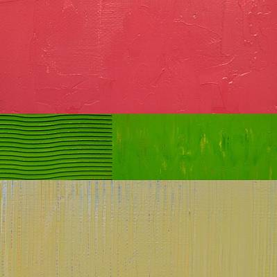 Painting - Preppy Pink And Green by Michelle Calkins