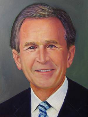 Painting - Pres. George W Bush by Samuel Daffa