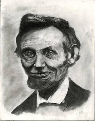 Annette Kinship Wall Art - Drawing - Pres Lincoln by Annette Kinship