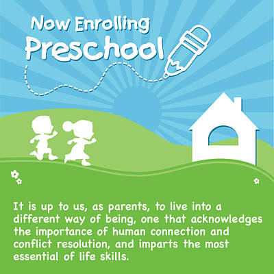 Drawing - Preschool Enrollment Poster by Serena King