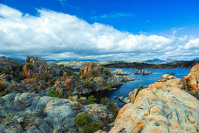 Watson Lake Photograph - Prescott Rocks by Richard Gehlbach