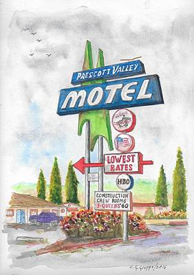 Prescott Valley Motel In Prescott, Arizona Art Print