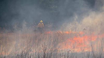 Photograph - Prescribed Burn 4 - Uw Arboretum - Madison - Wisconsin by Steven Ralser