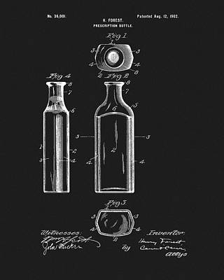 Mixed Media - Prescription Bottle Patent by Dan Sproul