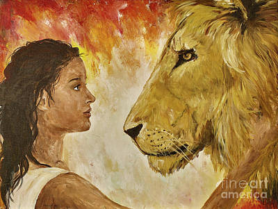 Lion Of Judah Painting - Presence by Elizabeth Ritz