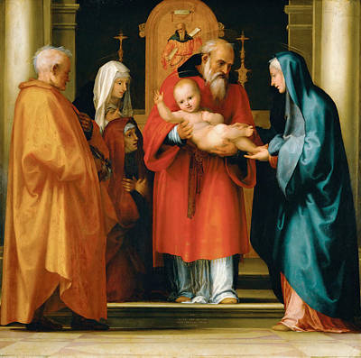 Presentation Painting - Presentation Of Christ In The Temple by Fra Bartolomeo
