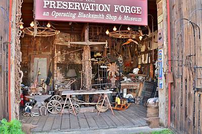Photograph - Preservation Forge Historic Blacksmith Shop - Lewes Delaware by Kim Bemis