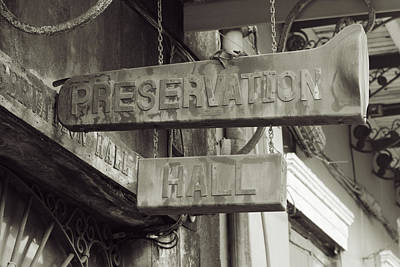 Photograph - Preservation Hall, French Quarter, New Orleans, Louisiana by Chris Coffee