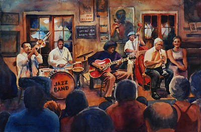 Preservation Hall Jazz Band Art Print by Sue Zimmermann