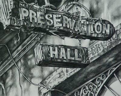 Drawing - Preservation Hall by Michael Lee Summers