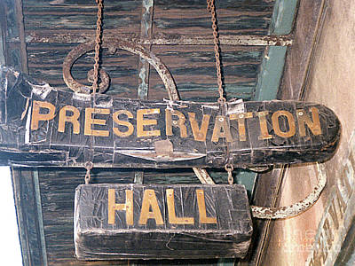 Photograph - Preservation Hall, New Orleans, Louisiana by Merton Allen