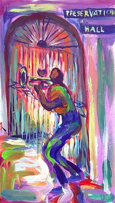 Preservation Hall New Orleans Art Print by Saundra Bolen Samuel