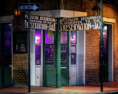 Photograph - Preservation Hall Of Jazz by Jerry Fornarotto