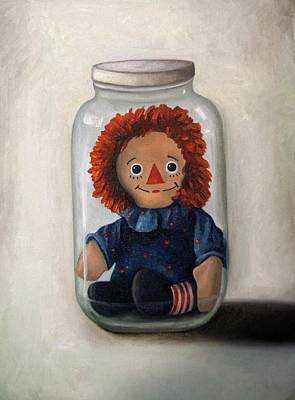 Rag Doll Painting - Preserving Childhood 2 by Leah Saulnier The Painting Maniac