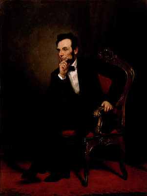 Painting - President Abraham Lincoln by Mountain Dreams