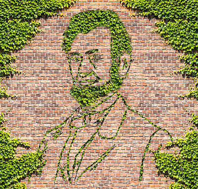 Abraham Lincoln Assassination Digital Art - President Abraham Lincoln In Ivy by William Mace