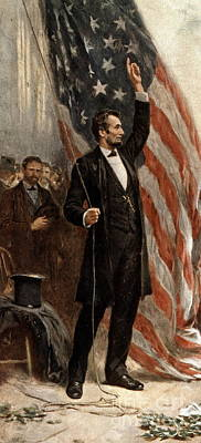 Star Spangled Banner Wall Art - Painting - President Abraham Lincoln by Jean Leon Gerome Ferris