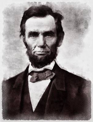 Politicians Paintings - President Abraham Lincoln by John Springfield