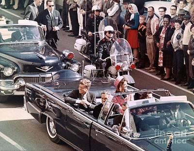 President And Mrs Kennedy In Dallas, Texas. Art Print