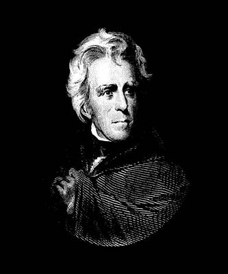 President Andrew Jackson Graphic Art Print by War Is Hell Store
