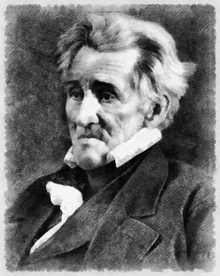 President Painting - President Andrew Jackson by John Springfield