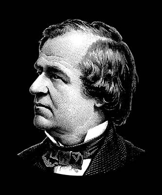 Digital Art - President Andrew Johnson Graphic by War Is Hell Store