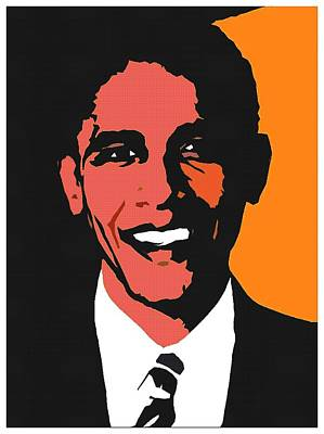 President Barack Obama 2 Art Print by Otis Porritt