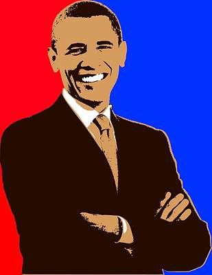 President Barack Obama 3 Art Print by Otis Porritt